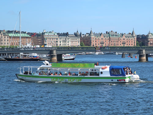 Hop-on Hop-off Boat in Stockholm Sweden